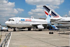 Avion Dassault Mercure sur le tarmac