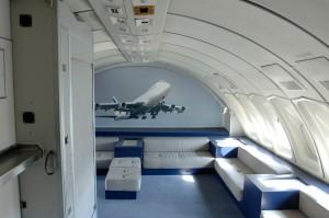 Pont supérieur du Boeing 747