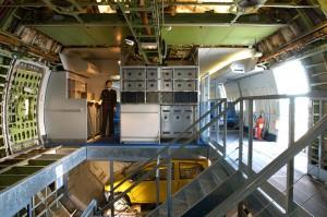 Cabine arrière du Boeing 747 avec la zone cargo