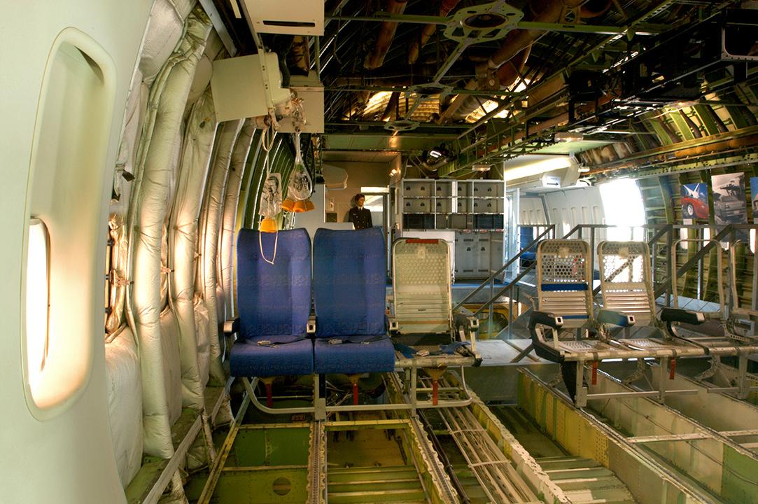 Cabine arrière du Boeing 747