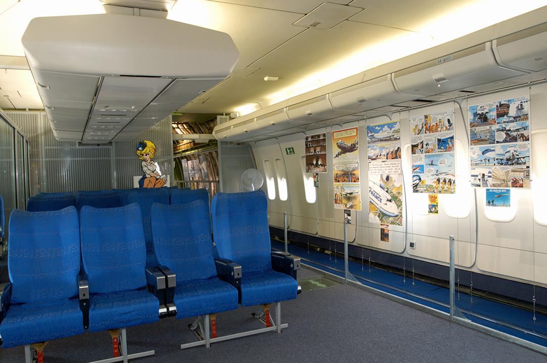 Cabine du Boeing 747