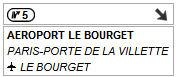 Sortie 5 nord - Aéroport le Bourget