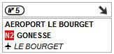 Sortie 5 sud - Aéroport le Bourget
