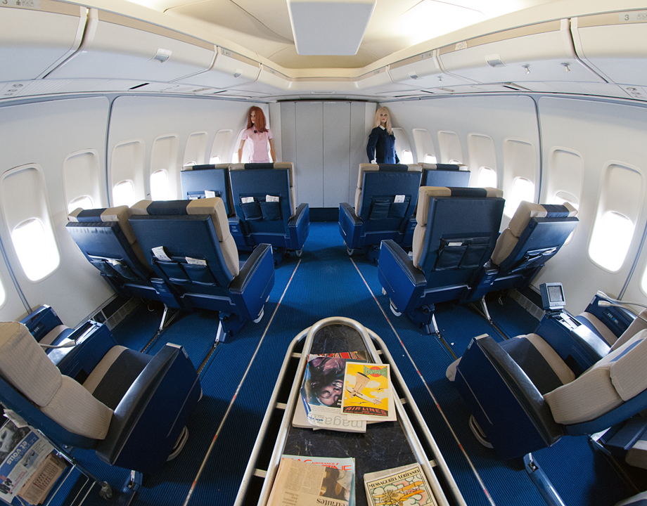 Cabine avant du Boeing 747