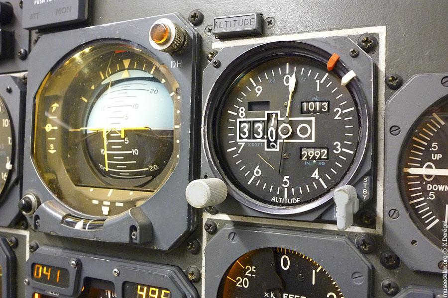 Tableau de bord boeing 747