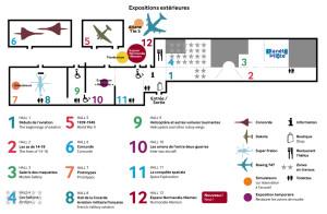 Plan du musée de l'Air et de l'Espace