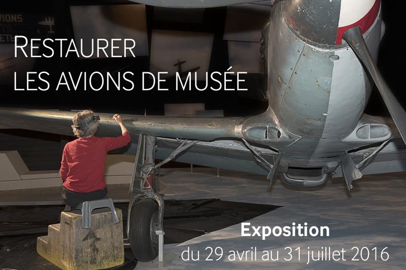 Affiche restaurer les avions de musée
