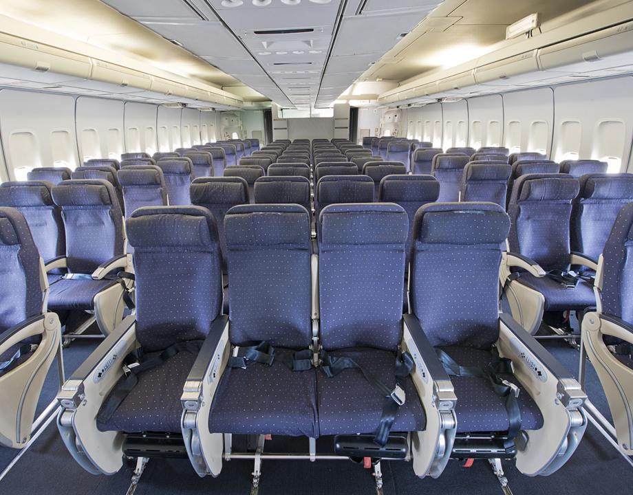 agrandir siges dans la cabine arrire du boeing 747