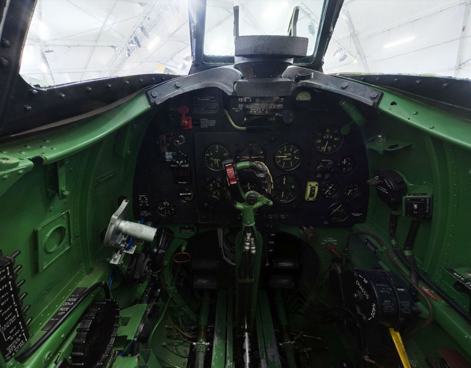 Cockpit Supermarine Spitfire LF Mk. XVI