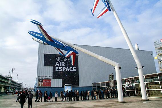 Entrée du musée de l'Air et de l'Espace