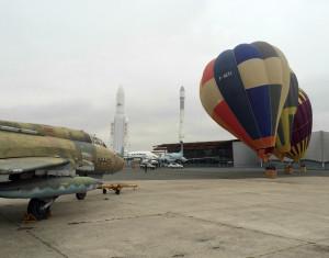 Ballons captifs au musée de l'Air et de l'Espace