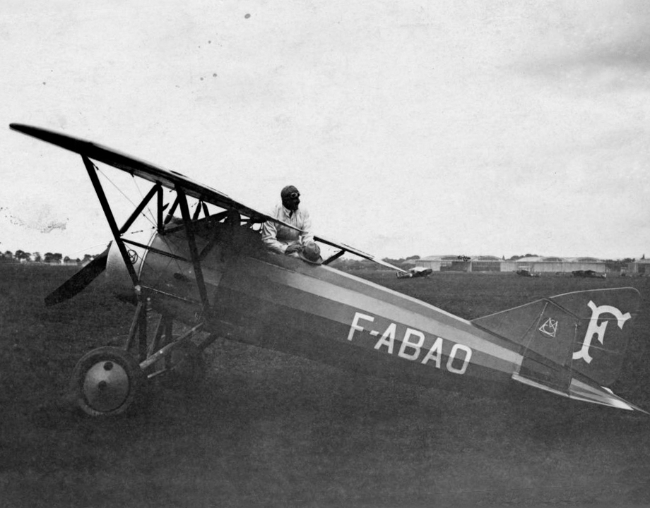Le Morane-Saulnier AI d'Alfred Fronval en 1927 - © Photo André, Le Bourget