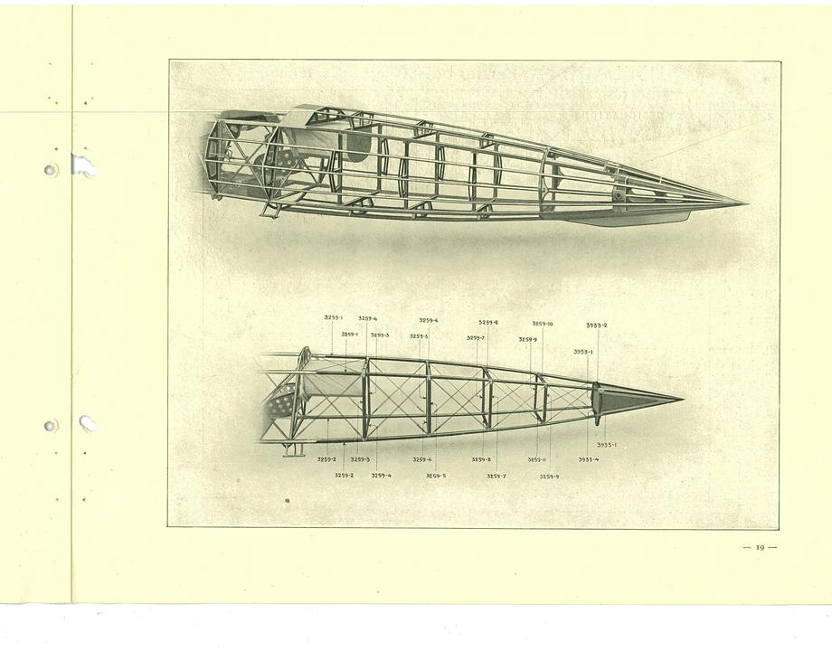 Extrait du catalogue des pièces détachées du Morane-Saulnier AI - © Musée de l'Air et de l'Espace