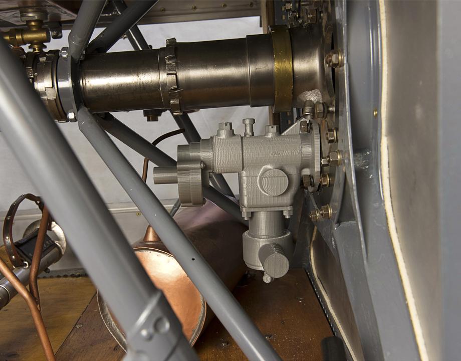 L'arrière du moteur du Morane-Saulnier AI en cours de restauration - © Musée de l'air et de l'espace – Le Bourget / Frédéric Cabeza