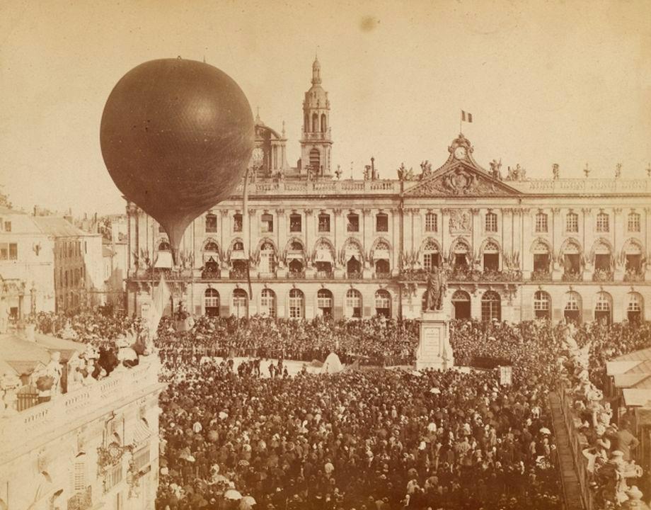Ballon libre l'Aérophile, fêtes du concours régional, 1885, Col. Musée de l'Air et de l'Espace – Le Bourget